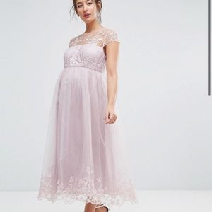 NEW Chi Chi London Maternity Premium Lace Dress